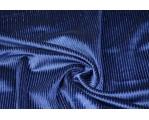 Бархат стрейч синий с люрексом 06593