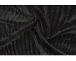 Бархат стрейч черный с люрексом 06589