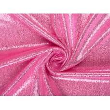 Трикотаж с напылением розовый