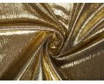 Трикотаж с напылением темное золото