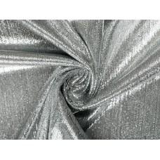 Трикотаж с напылением темное серебро