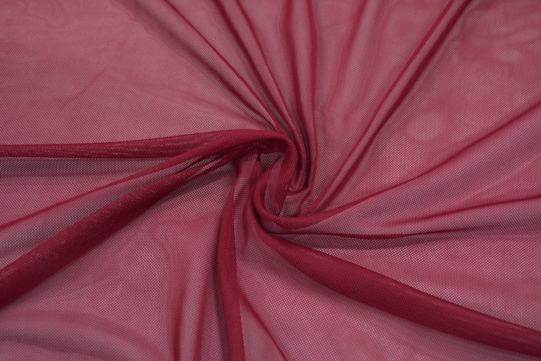 Трикотажная сетка цвет бордовый C24-305
