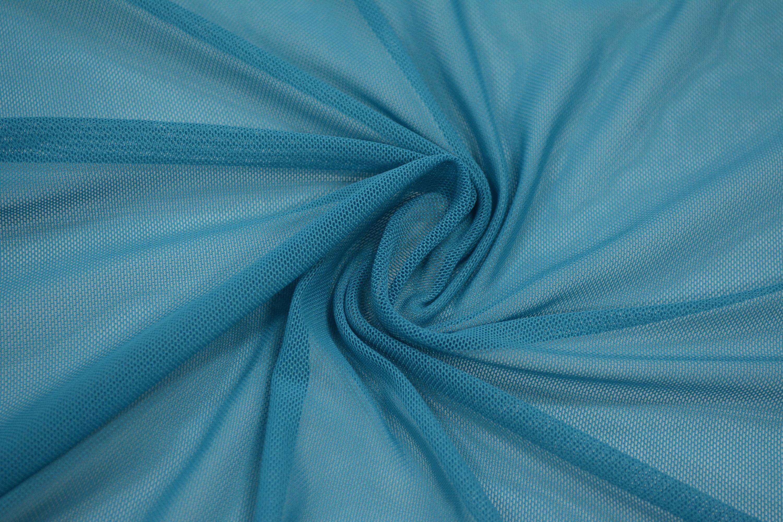 Трикотажная сетка цвет бирюзовый C24-295