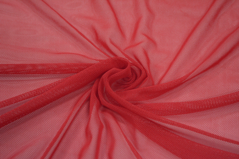 Трикотажная сетка цвет красный C24-272