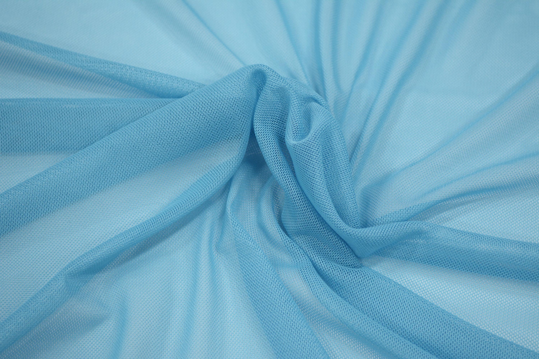 Трикотажная сетка цвет голубой C24-304