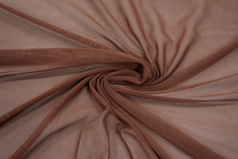 Трикотажная сетка цвет коричневый C24-302