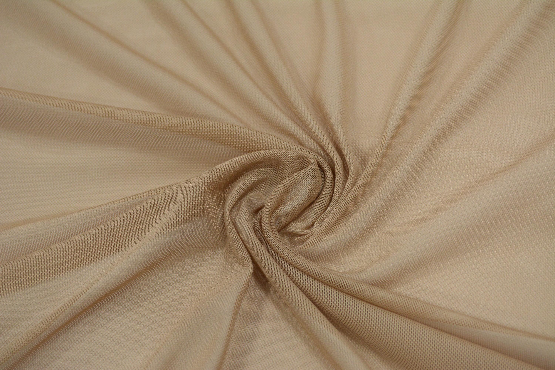 Трикотажная сетка цвет бежевый C24-274