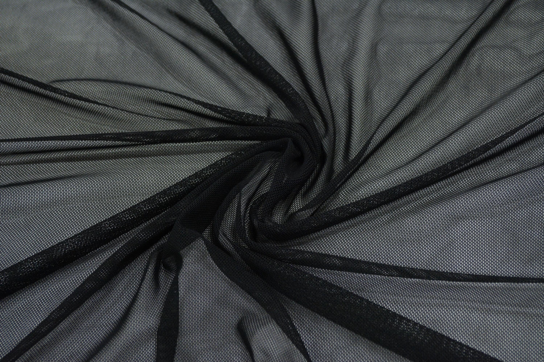 Трикотажная сетка цвет черный C24-290
