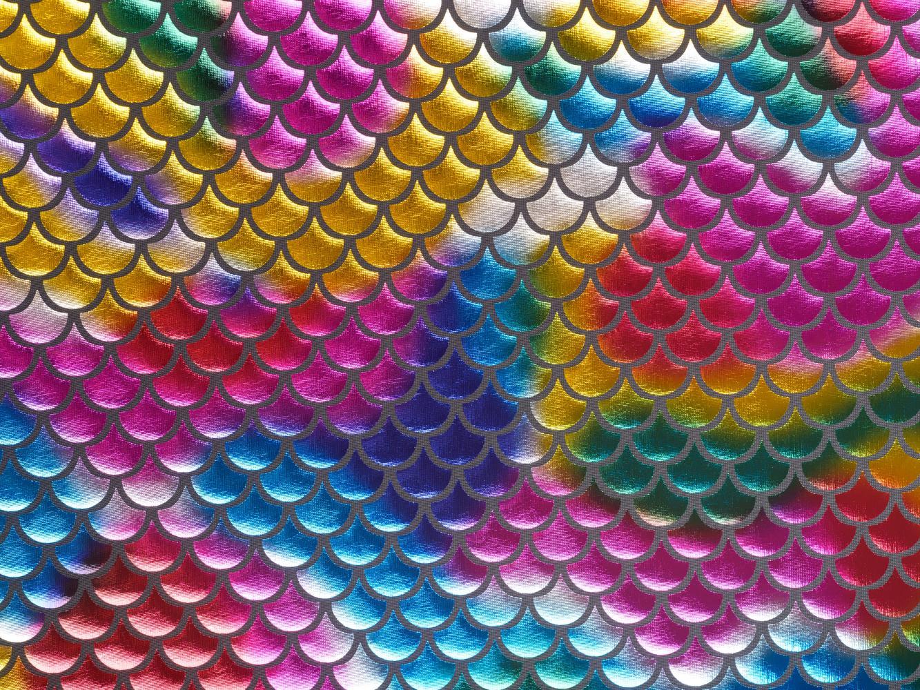 Трикотаж с напылением разноцветный