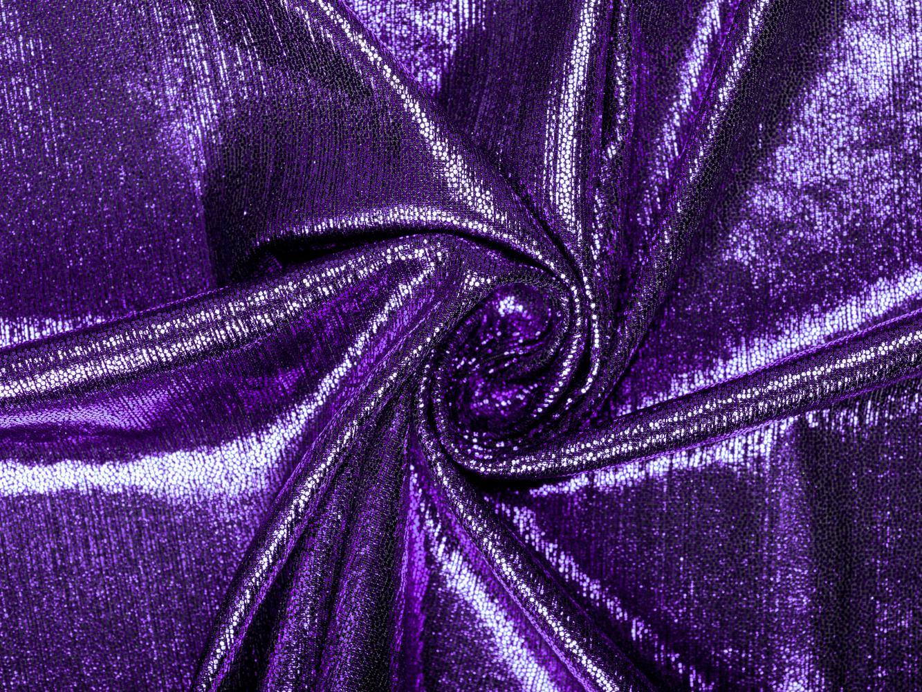 Трикотаж с напылением фиолетовый