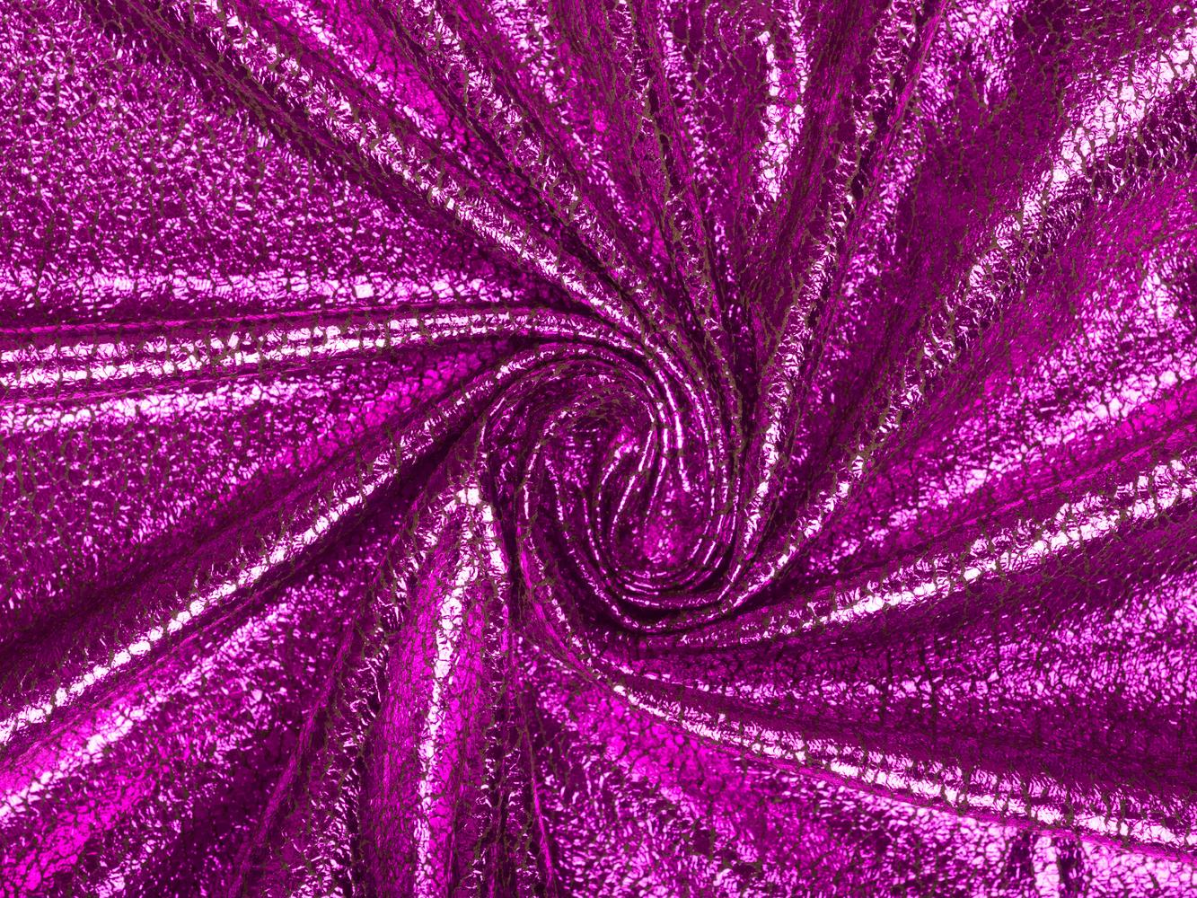 Плательная ткань с напылением цвета фуксия
