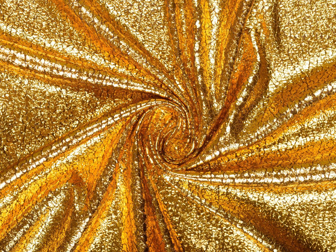 Плательная ткань с золотым напылением